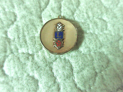 Vintage Gold Plate Masonic Mason F L T Picture Locket With Picture