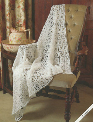 Baby CROCHET Pattern LACY Shawl copy 3 & 4 ply