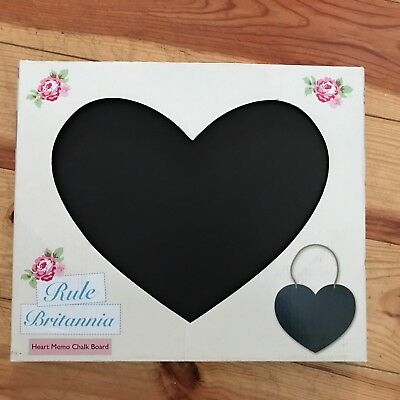 Bnib Love Heart Memo Chalk Board Black Free Postage