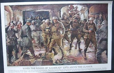 1918 Frank E. Schoonover Picture of GREAT WAR painted for Ladies Home Journal