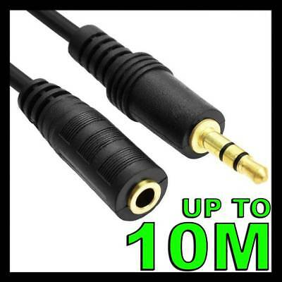 Male to Female 3.5mm AUX Audio MP3 Headphone Stereo Extension Cable Cord Lead