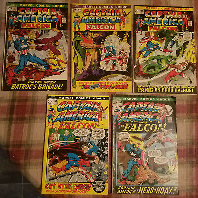 Marvel Captain America and The Falcon Lot of 5! Ungraded #149,150, 151, 152, 153