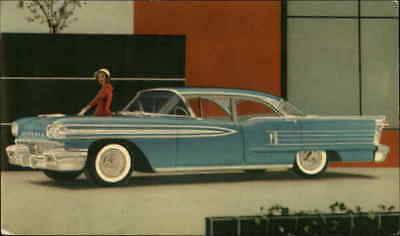 Cars Oldsmobile Ninety-Eight 4-Door Sedan Chrome Postcard