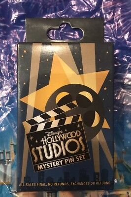 Disney Hollywood Studios Mystery Pin Set One UNOPENED Box With 2 Pins New
