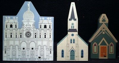 The Cat's Meow Shelf Sitters ~ Church Lot ~ All Saint's Chapel Sacred Heart ...