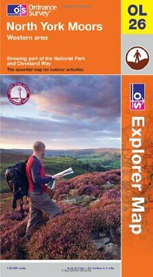 North York Moors - Western Area (OS Explorer Map) by Ordnance Survey Book The