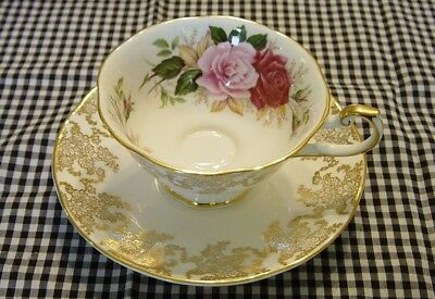 QUEEN'S Fine Bone China Tea Cup & Saucer from Rosina China Company - England