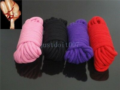 4 Colours 33 Ft Cotton Soft Silk Couple Bondage Rope Kit -Restraint Roleplay New