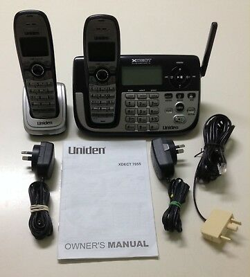 Uniden Xdect 7055+1 Extended Digital Cordless Phone System As New