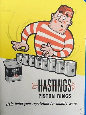 Vtg NOS HASTINGS Piston Rings Notebook Note Pad Paper Gas Oil Advertising