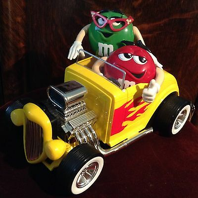 Collectible M&M Rebel Without A Clue Candy Dispenser Hot Rod Roadster