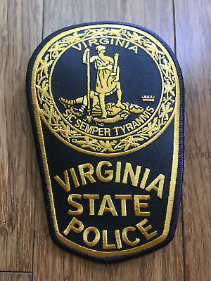 Virginia State Trooper Police Highway Patrol Patch Large