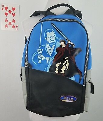 Star Wars Student Childrens School Backpack Kwi Gon Jinn Obi Wan Kenobi Jedi