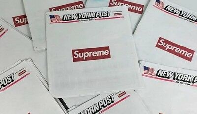 Supreme New York Post Newspaper NYC Exclusive Limited Edition (100% Authentic)