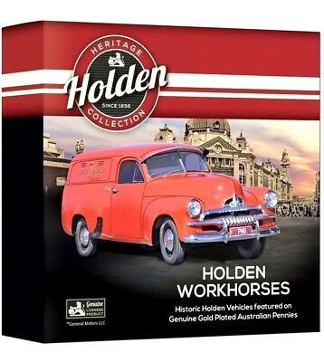 Australian 2018 Holden Heritage Workhorses 9 x Au Pl Penny Collection 5000 Made