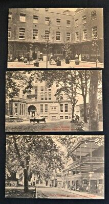 Guy's Hospital Surgical Blding & Nurses Home Postcards (3) London England PC