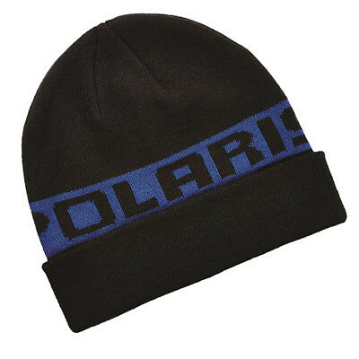 OEM Polaris Blue Classic Cuff Beanie Snowmobile Winter Hat One Size Fits Most