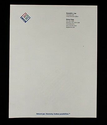 Enron Collectable – The Official Letterhead of Chairman & CEO Kenneth Ley / Mint