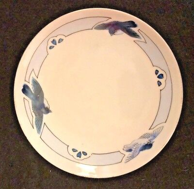 "Royal Nippon Studio Bluebirds Plate - 6"" Hand-Painted"