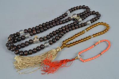 R310: Japan Wooden BUDDHISM ROSARY string of beads Buddhist statue Bundle sale