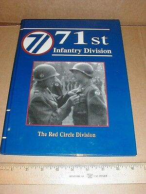 71st Infantry Division History Army WWII Rhineland Europe rare book veteran bios