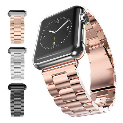 38/42mm Acero inoxidable Correa reloj Corchete para Apple Watch Series1/2/3 moda