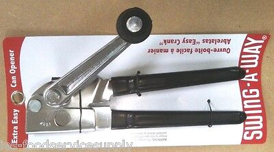 Can Opener Hand Crank - Swing-A-Way Polished Chrome Kitchen Restaurant Heavy