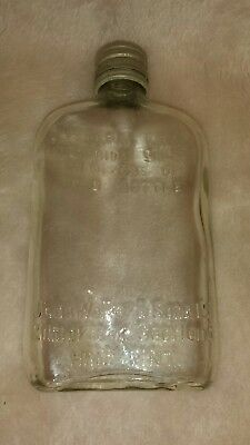 JOHN WALKER & SONS Ltd  Kilmarnock Scotland CLEAR Glass Whiskey Bottle 1/2 pint