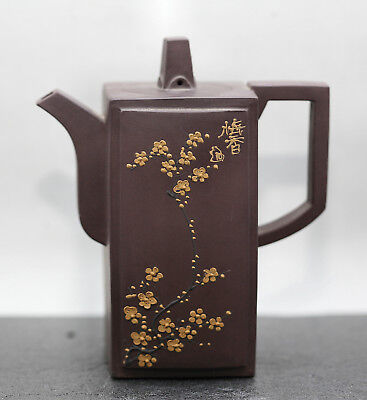 Exceptional Quality Vintage Chinese Yixing Zisha Square Teapot By Master 徐朝君