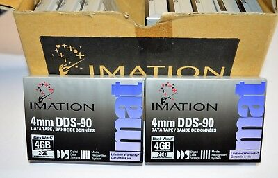 Box of 10 Imation 4mm DDS-90 4GB Data Tapes **NEW**