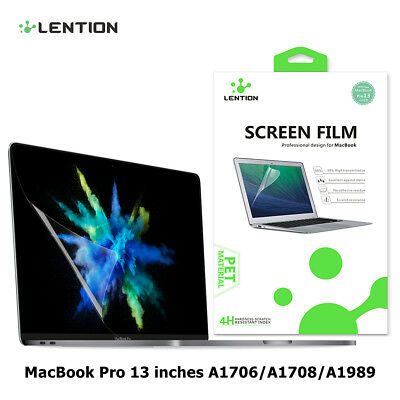 Clear Screen Protector HD Film Guard for MacBook Pro 13inch (A1706/A1708/A1989)