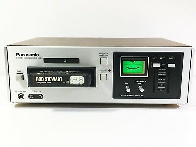 Panasonic RS-805 Stereo 8 Track Tape Player Recorder Deck (See Video) (Serviced)