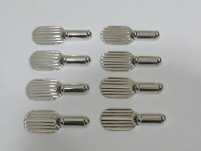 Lot of 8 Vintage Christofle silverplate Luc Lanei Ondulation Knife Rests, France