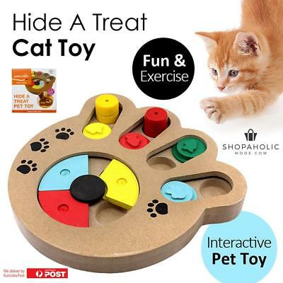 Hide A Treat Interactive Cat Dog Pet Toy Fun Exercise Healthy Entertainment