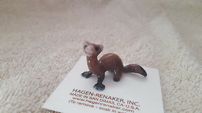 Hagen Renaker Ferret Lying Figurine Miniature Funny Gift New Free Shipping 03319