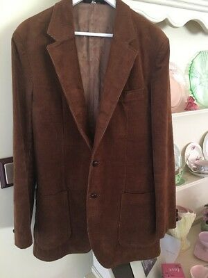 VINTAGE MYER MENS STORE MENS 60's 70's CORDUROY JACKET TRADITIONAL BROWN SZ 107