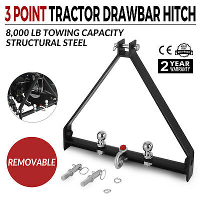 3 Point BX Trailer Hitch Compact Tractor John Deere 8000lbs Capacity Heavy Duty