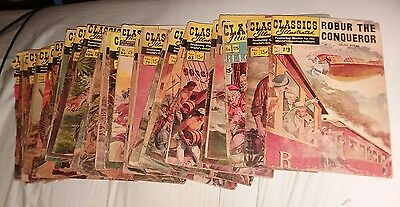 classics illustrated 32 issue comics lot time machine robinson crusoe collection