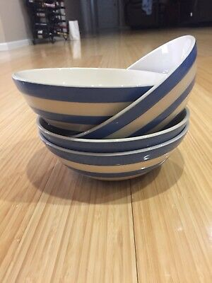 T G Green Cornishware Cereal Plates. New Condition. No Imperfections. Never Used