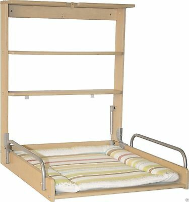 Changer diaper wall with mattress Adjustable Colour Beech Roba Practical Baby