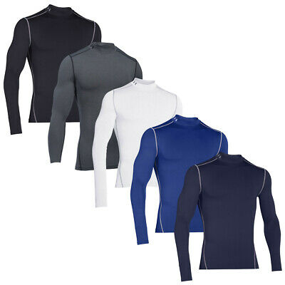 Under Armour Mens ColdGear Armour Compression Mock UA Base Layer 36% OFF RRP