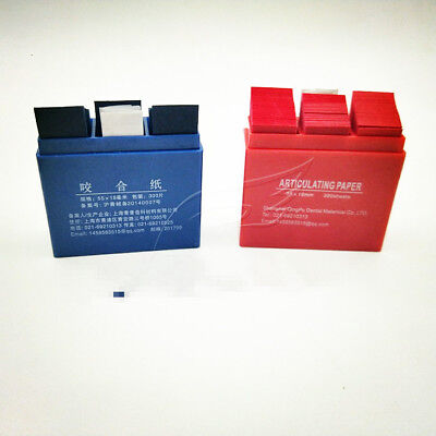 300 Sheets Dental Articulating Paper Blue Or Red (Size: 55*18mm) Clinic Use