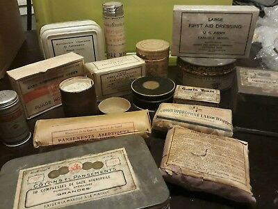 lot materiel medical ancien pansement