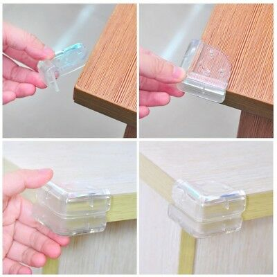10Pcs Child Baby Safe Silicone Protection Cover Table Corner Edge Protector US