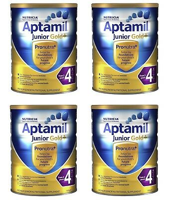 4x Aptamil Gold+ 4 Junior Nutritional Supplement From 2 years 900g
