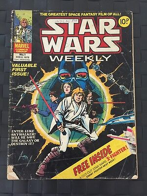 Star Wars Marvel Comic issue number 1. Extra rare UK print only one for sale!