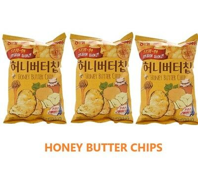 HAITAI] HONEY BUTTER CHIPS 60g x 5/3/2/1EA Korean Potato Chips,Free Int Shipping