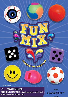 Fun Time Mix - Self-Vending Toys (250 count) Vending Machines Carnival Prizes