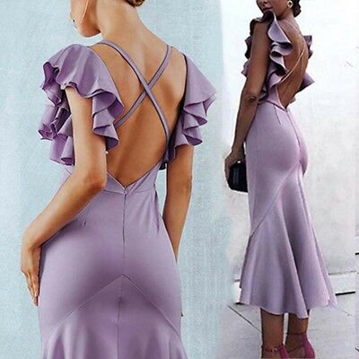 MERMAID Women Bridesmaid Dress Long Evening Party Formal Wedding Ball Prom Gown