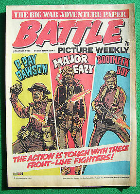'Battle' comic, 6 March, 1976 (fine, near mint)